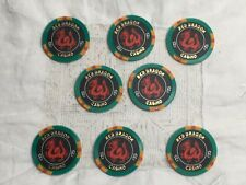 Rush Hour 2 Jackie Chan Lot of 8 Red Dragon Casino $25 Poker Chips Props