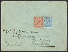 British Levant 1919 Cover Constantinople-Manchester 'ARMY POST OFFICE SX3' CDS.