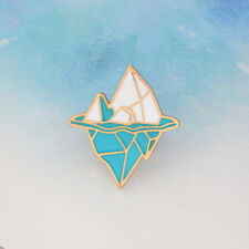 Cute Antarctic Iceberg Shape Enamel Brooch Collar Badge Jewelry Pin Kids Gift
