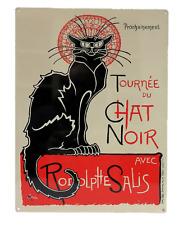 Grande Plaque Métal 30x40 Tournée Chat Noir Cabaret Théâtre Vintage Rétro Loft
