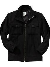 New Boys Old Navy Black Wool Moto Jacket Size 5