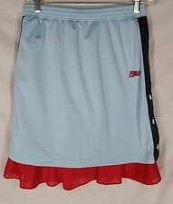 Puma Skirt size S vtg light blue red layered jersey snap pull on womens