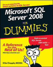 Microsoft SQL Server 2008 For Dummies, Good Condition Book, Chapple, Mike, ISBN