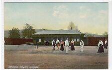 TENNIS COURTS, LENZIE: Dunbartonshire postcard (C21938)
