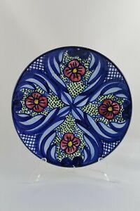 Plato decorativo de ceramica pintado a mano ESPAÑA,   19,5 cm diametro.