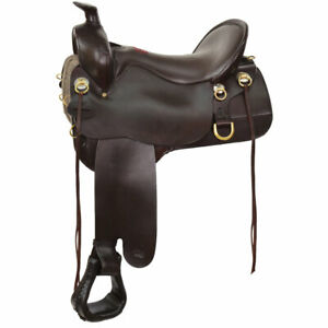 T60-721-9211-12 Tucker High Plains Trail Saddle 17.5 Wide Brown NEW