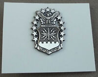 US Air Force ROTC Officer Flight Cap And Beret Badge Silver Oxide Finish