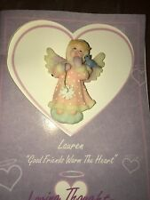 "Roman Loving Thoughts Cherubim ""Good Friends Warm the Heart"" Lauren Pin #62072"