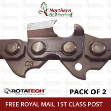 """14"""" Genuine ROTATECH Chainsaw Saw Chain PACK OF 2 CHAINS Fits McCULLOCH 7-38 738"""
