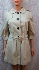 NEW Womens Banana Republic Tan Khaki 3/4 Sleeve Trench Coat Jacket Medium M NWT
