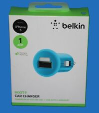 BELKIN MIXIT 1A micro USB Car Charger for iPod, iPhone 5 ,5S ,6 ,6 plus  - Blue