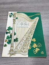 Vintage Greeting Card St Patrick's Day Irish Mother Harp