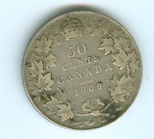 CANADA 1909 FIFTY CENTS--CIRCULATED