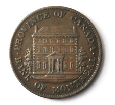 1844 Lower Canada 1/2 Half Penny Sou Bank Token KM#TN18 Copper Coin Montreal