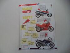 advertising Pubblicità 1989 MOTO HONDA CBR 600 F/VFR 750 F/CBR 1000 F