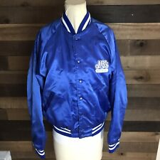 Jbs Big Boy Hamburger Vintage Satin Blue Button Up Jacket Rare Size Medium