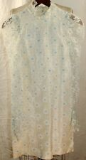 Judy Bee Vintage Lace Blue Flower Lined Dress Girls Size 9/10 1960's