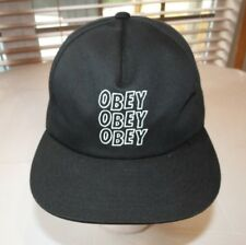 Obey Worldwide Lofi Snapback Mens hat adjustable one size hat black 6174400 NEW