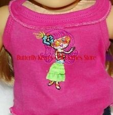 Hula Girl Embroider Tank Top 18 in Doll Clothes Fits American Girl
