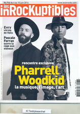 PHARRELL WILLIAMS & WOODKID  ~ LES INROCKUPTIBLES Juin 2014 BRAND NEW ©TBC