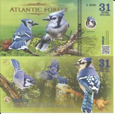 ATLANTIC FOREST BILLETE 31 AVES DOLLARS 2017 SPECIMEN