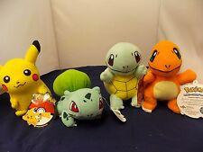 4-Pokemon Plush Pokémon Toys Small Bulbasaur & 3- Buddies NWT FREE S&H