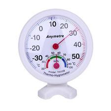 Mini Hygrometer Thermometer Set LuftfeuchtigkeitTemperaturAnalogweißBimetall