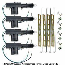 4 Pc Universal Actuator Power Door Lock 12 V Car Motor Truck Mounting Strap Rods