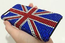 British UK Flag Made with Swarovski Crystals Bling Diamond Case Cover iPhone 7/8