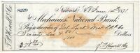 SAMUEL SLOAN, Railroad & Banking Tycoon, Signed RR Check 1871