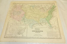 1864 Colton COLOR Map//WEST INDIES, CUBA, JAMAICA, b/w PHYSICAL SOUTH AMERICA