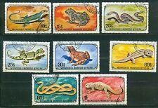 Mongolie 712 - 719 , o , Motif Reptiles