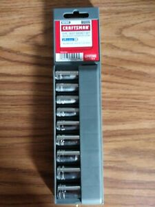 "Craftsman 9 Piece 1/4"" Drive Metric 6 Point Deep Socket Set 5-13mm 34562 NEW"