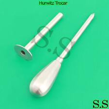 2 Hurwitz Trocar Surgical Medical Surgeon Instruments
