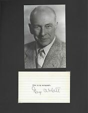 GEORGE ABBOTT PRODUCER DIRECTOR PLAY-WRITE SIGNED AUTOGRAPH DISPLAY WITH COA