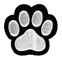 Patch écusson patche trace patte chien thermocollant hotfix brodé badge Paw