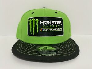 Monster Energy Nascar Cup Series Snapback Hat 9Fifty Lime Green