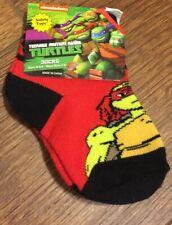 Boys Teenage Mutant Ninja Turtles Low Cut Socks (Shoe Size 1-5) NEW (Safety Toes