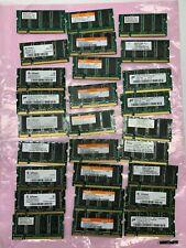 27 Pcs of 256Mb Ddr1 So-Dimm laptop Ram Memory Hynix, Infineon, Nanya 266-333Mhz