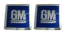 68-77 Gm Cars Metal Door Jamb Decals Blue Pr