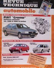 NEUF Revue technique FIAT CROMA ESSENCE 1600 / 2000 ie.Turbo RTA 507 205 RALLYE