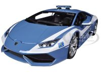LAMBORGHINI HURACAN LP610-4 POLICE 1/18 DIECAST CAR MODEL BY BBURAGO 11041