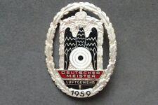 Abzeichen Deutscher Meister Luftgewehr 1959 - Schützenverein