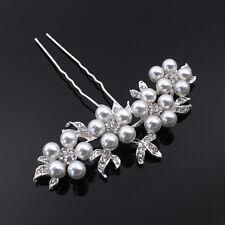 Boda Nupcial Cristal Perla Flor Hair Pin Elegante Dama De Honor De  Accesorios Para El Cabello 47141b43dd3d