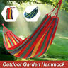 Double Large Garden Hammock Hang Bed Cotton Outdoor Camping Beach Travel Swing