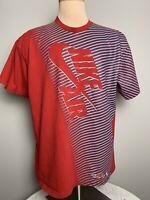 Vintage 90s Nike Air T-shirt Men's Size XL Red White Logo USA Fast Shipping VTG