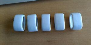 Serviettenringe 5 Stück - Porzellan weiß