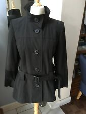 Dorothy Perkins Black Belted Jacket UK 16