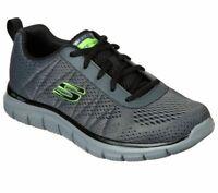 Wide Fit Charcoal Shoe Skechers Men Memory Foam Mesh Sport Comfort Casual 232081