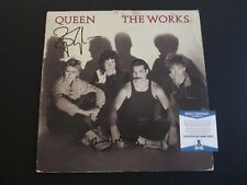 Queen Brian May & Roger Taylor Autographed Signed The Works LP Beckett Certified